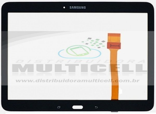 "TELA TOUCH SCREEN T530/T531/T535 SAMSUNG GALAXY TAB 4.0 10.1"" PRETO ORIGINAL"