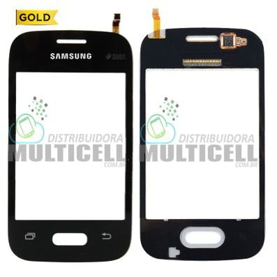 TELA TOUCH SCREEN SAMSUNG G110 G110B GALAXY POCKET 2 DUOS PRETO 1ª LINHA AAA GOLD