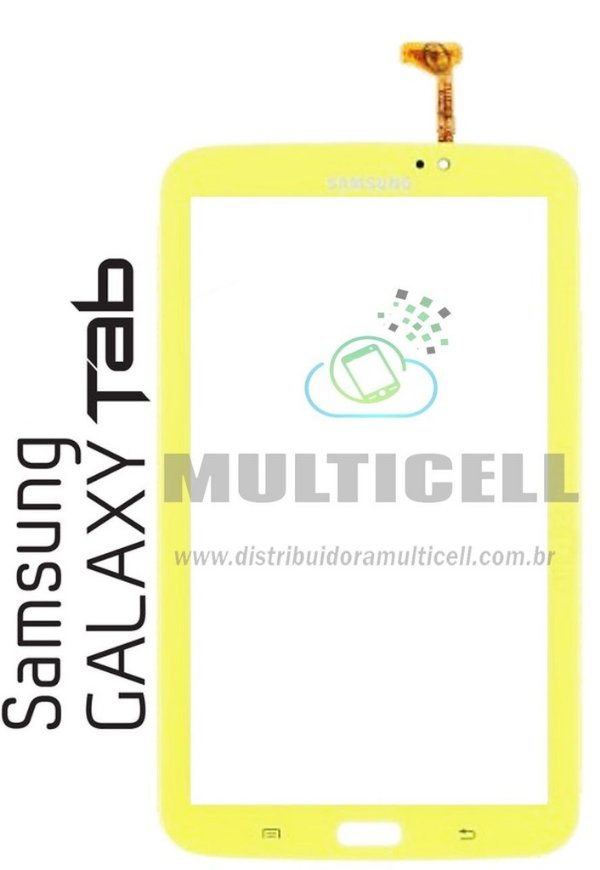 TELA TOUCH SCREEN SAMSUNG T210/T2100/P3200 TAB 3 KIDS AMARELO ORIGINAL