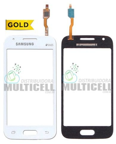 TELA TOUCH SCREEN SAMSUNG G313 G313H G313F G316 G316M GALAXY ACE 4 BRANCO C/ CAMERA 1ªLINHA  AAA GOLD