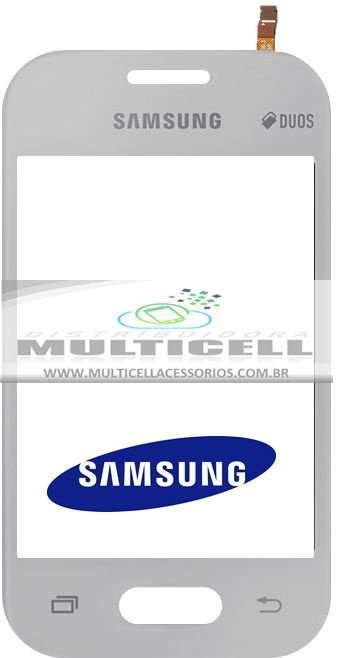 TELA TOUCH SCREEN SAMSUNG G110B GALAXY POCKET 2 DUOS BRANCO ORIGINAL (GH96-07071A)