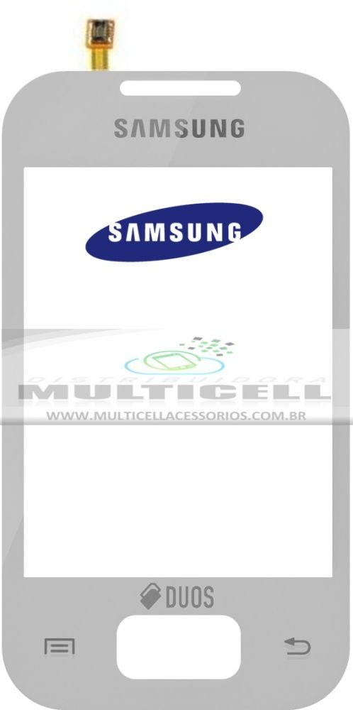 TELA TOUCH SCREEN SAMSUNG S5303 GALAXY Y PLUS DUOS BRANCO ORIGINAL (GH59-13049B)