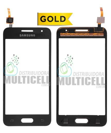 TELA TOUCH SCREEN SAMSUNG G355 GALAXY CORE 2 DUOS PRETO 1ªLINHA AAA GOLD
