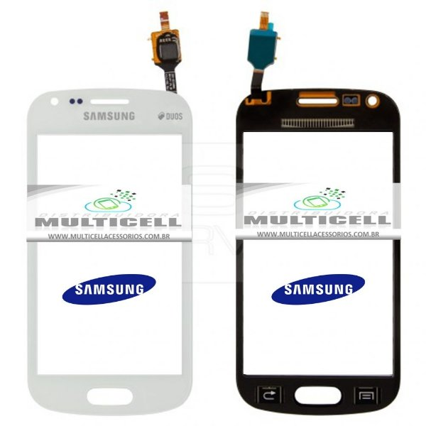 TELA TOUCH SCREEN SAMSUNG S7582 S DUOS 2 BRANCO ORIGINAL (GH68-06889A)