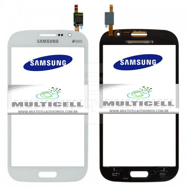 TELA TOUCH SCREEN SAMSUNG I9063 I9063T GRAN NEO DUOS TV BRANCO ORIGINAL (GH96-07031A)
