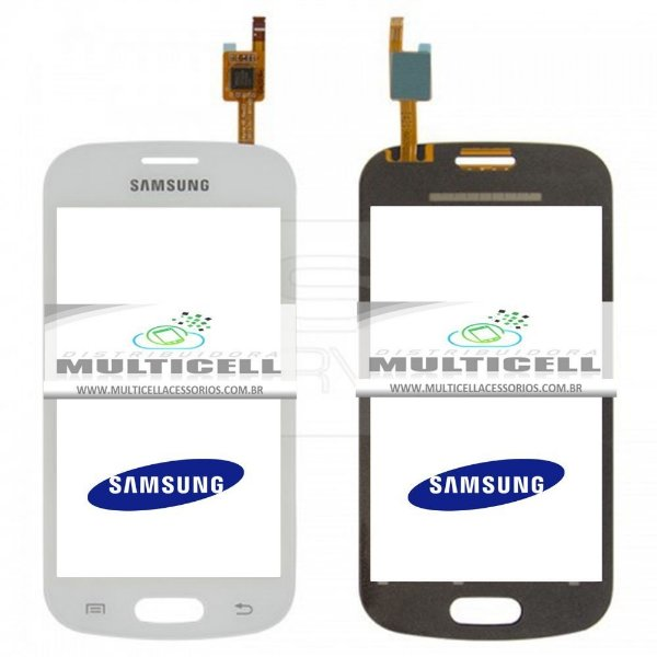 TELA TOUCH SCREEN SAMSUNG S7390/S7392 GALAXY TREND LITE BRANCO ORIGINAL