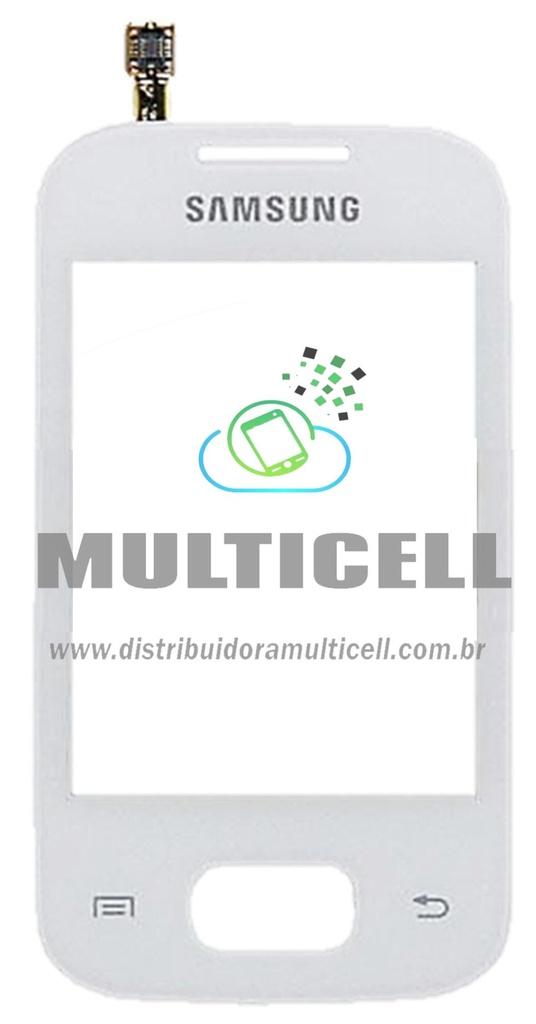 TELA TOUCH SCREEN SAMSUNG S5302 GALAXY POCKET DUOS BRANCO ORIGINAL (GH59-12505A)