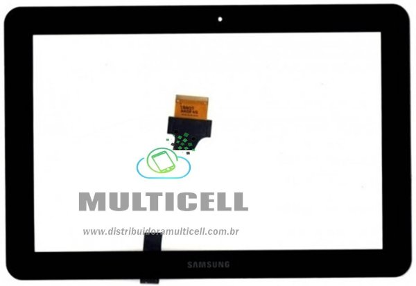 TELA TOUCH SAMSUNG P5100/P5110 GALAXY TAB 2 10.1'  PRETO ORIGINAL