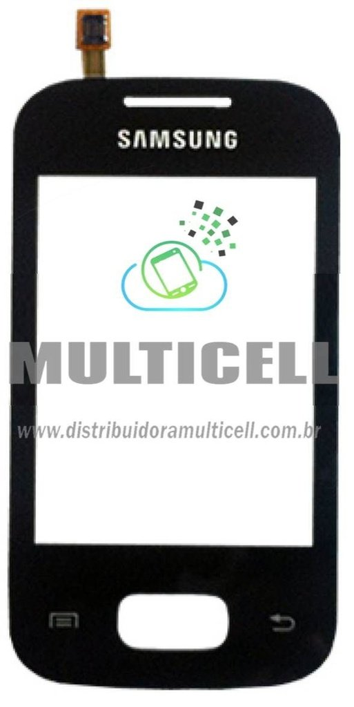 TELA TOUCH SCREEN SAMSUNG S5302 GALAXY POCKET DUOS PRETO ORIGINAL (GH59-12505B)