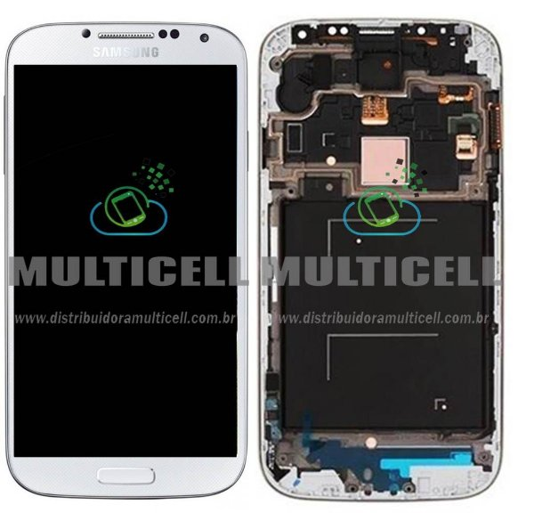 GABINETE FRONTAL LCD DISPLAY TOUCH SCREEN MODULO COMPLETO I9505 I9515 SAMSUNG GALAXY S4 4G BRANCO 1ªLINHA AAA QUALIDADE GOLD