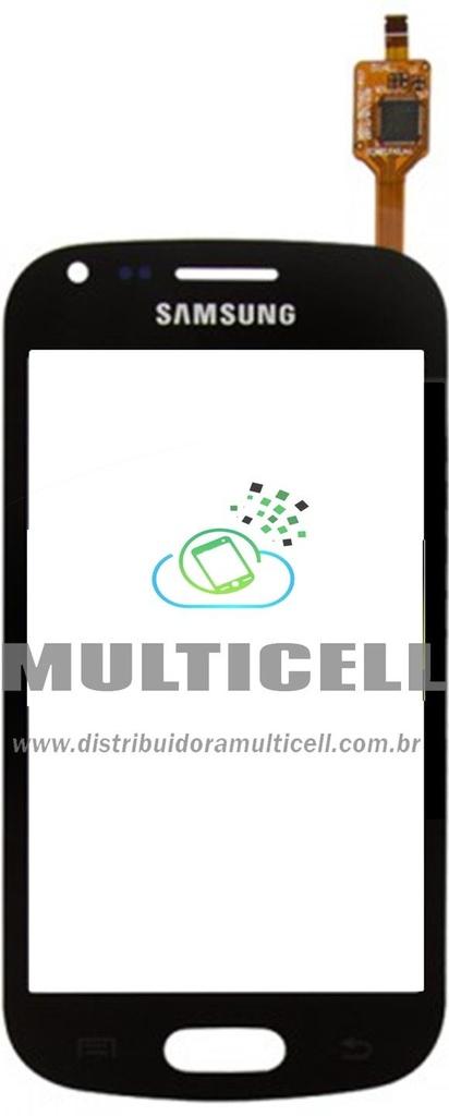 TELA TOUCH SCREEN SAMSUNG S7560 GALAXY TREND PRETO ORIGINAL (GH59-12658B)
