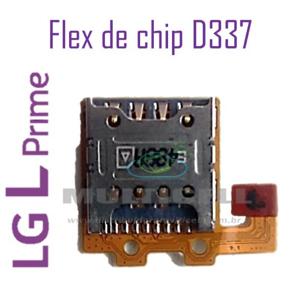 FLEX DE CHIP SIM CARD LG D337  L PRIME ORIGINAL