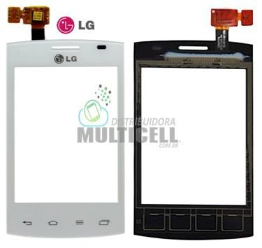 TELA TOUCH SCREEN LG E410 E415 L1 II DUAL BRANCO 100% ORIGINAL