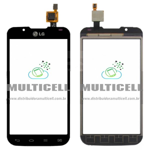 TELA TOUCH SCREEN LG OPTIMUS P715/P716 L7 II PRETO 1ªLINHA