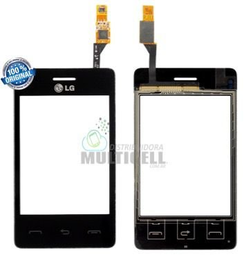 TELA VIDRO TOUCH SCREEN LG T375 PRETO 100% ORIGINAL