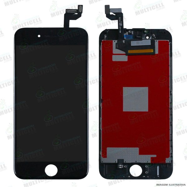 GABINETE FRONTAL DISPLAY LCD MODULO COMPLETO APPLE A1688 IPHONE 6S PRETO 1ªLINHA QUALIDADE AAA
