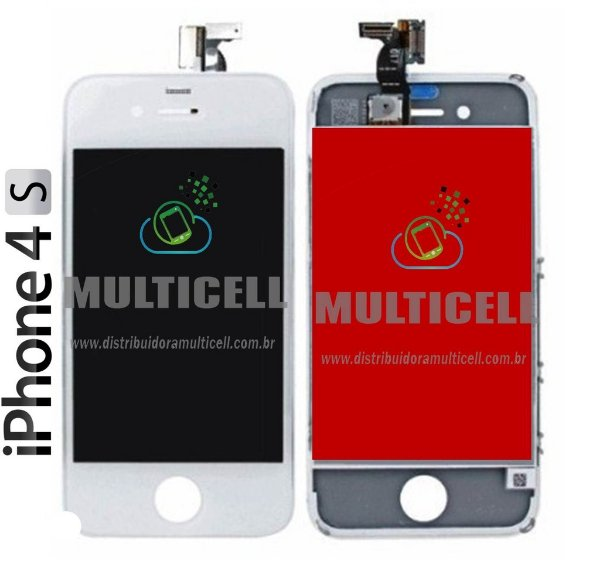 GABINETE FRONTAL TOUCH SCREEN APPLE IPHONE 4S BRANCO 1ªLINHA AAA QUALIDADE GOLD