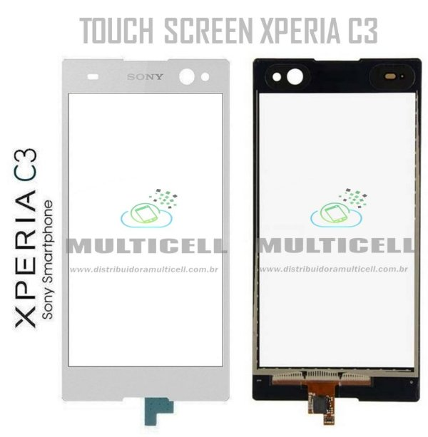 TELA TOUCH SCREEN D2502/D2503/D2533 SONY XPERIA C3 DUAL BRANCO ORIGINAL