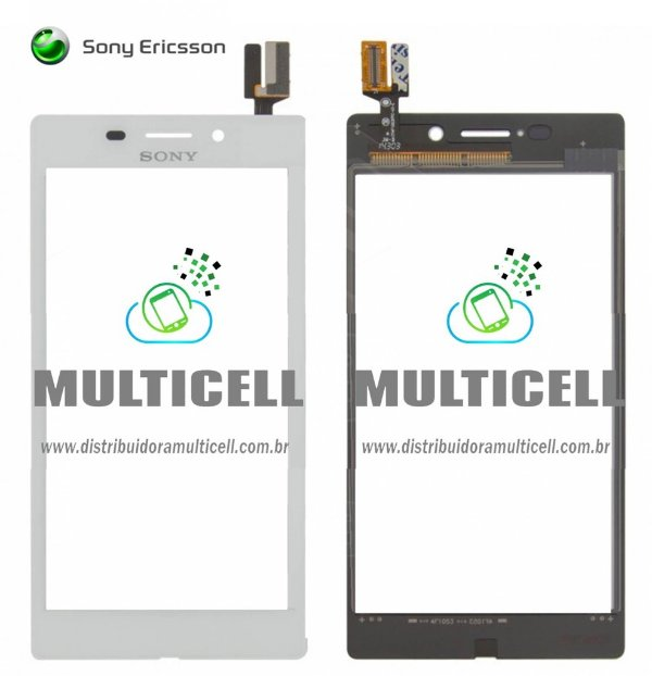 TELA TOUCH SCREEN SONY D2403/D2405/D2406 XPERIA M2 AQUA BRANCO ORIGINAL