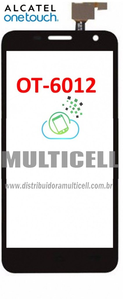 TELA TOUCH SCREEN ALCATEL OT-6012 ONE TOUCH IDOL MINI PRETO ORIGINAL