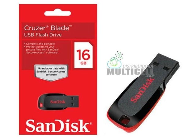 PENDRIVE SANDISK CRUZER BLADE 16GB