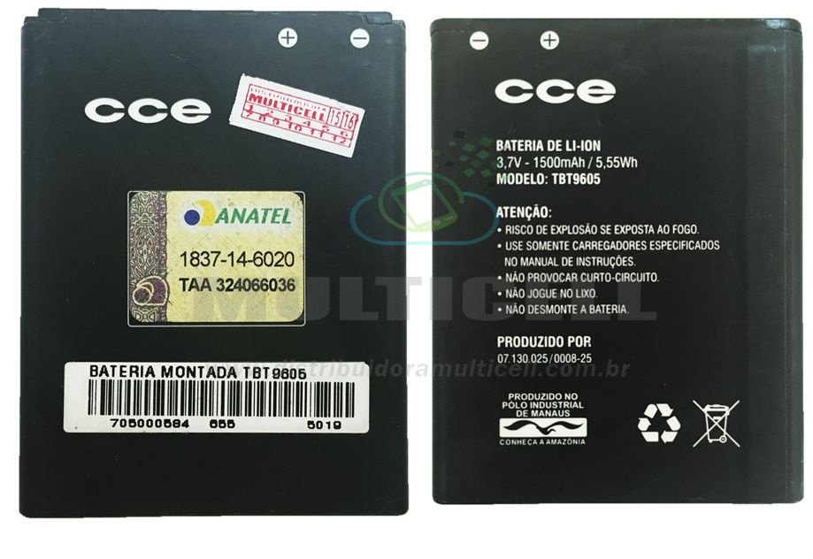 BATERIA CCE  SK412 MOTION COLORS TBT9605 1500 mAh ORIGINAL