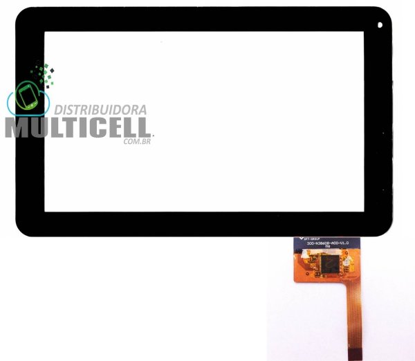 TELA TOUCH SCREEN CCE TR91/T935/FOSTON M988 9' PRETO (VERSÃO FLEX LARGO)