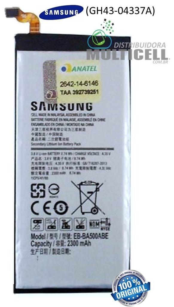 BATERIA SAMSUNG A5/A5000 EB-BA500ABE 2300mhA (GH43-04337A) ORIGINAL