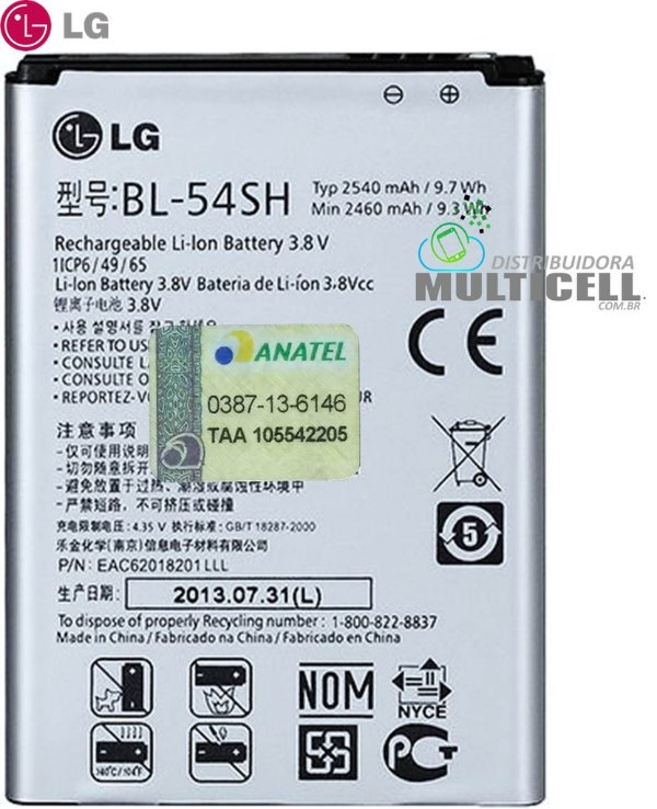 BATERIA LG BL-54SH H502 D405 D410 D337 D375 D380 D385 D724 L80 L90 ORIGINAL