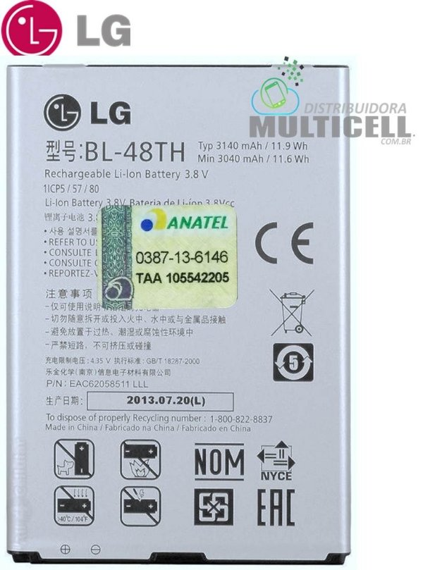 BATERIA LG BL-48TH E980/E989/D683/D685/OPTIMUS G/G PRO LITE ORIGINAL