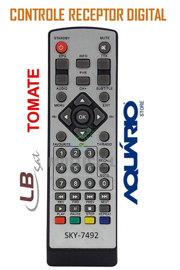 CONTROLE TOMATE MC888 EG8400 LBHD30 DTV5000/DTV6000  SKY-7492 1ªLINHA