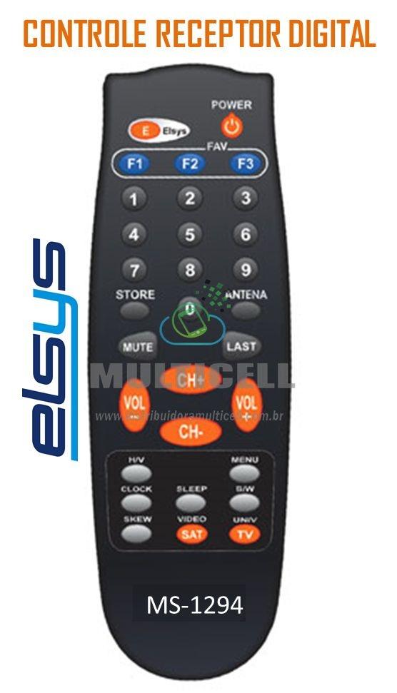 CONTROLE RECEPTOR DIGITAL ELSYS SKY-7901 1ªLINHA