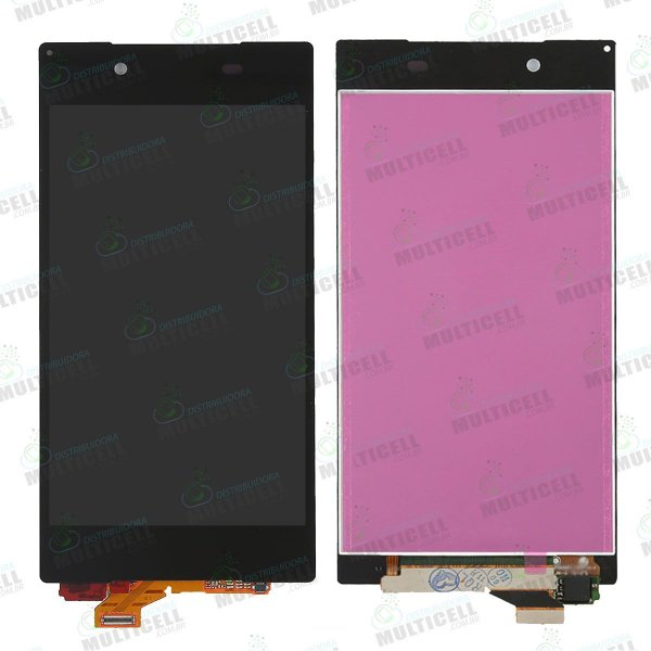 GABINETE FRONTAL DISPLAY LCD MODULO COMPLETO SONY E6603 E6633 E6653 E6683 XPERIA Z5 PRETO 1ªLINHA QUALIDADE AAA