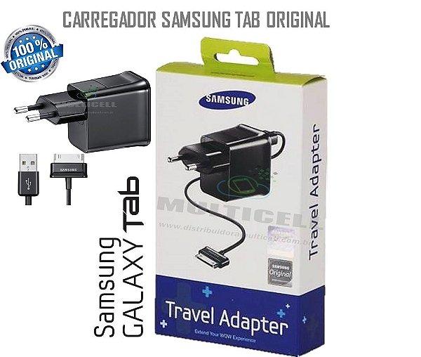 CARREGADOR SAMSUNG P1000/P1010/P3100/P3110 GALAXY TAB PRETO ORIGINAL