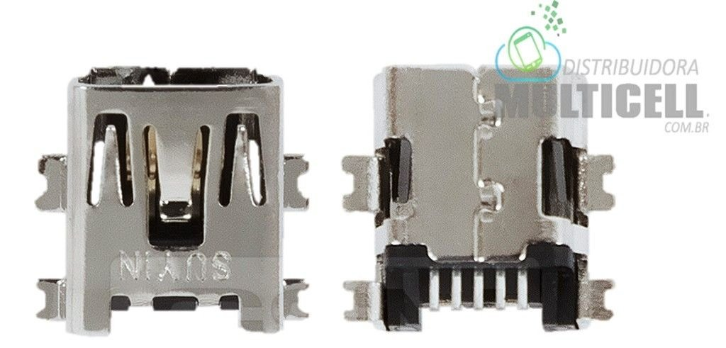 CONECTOR DE CARGA MINI USB 5 PINOS  SMT TABLET GPS  ENTRADA V3