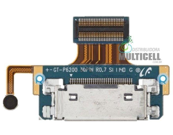 FLEX DOCK CONECTOR DE CARGA MICROFONE  SAMSUNG P6200 TAB PLUS  7.0 ORIGINAL