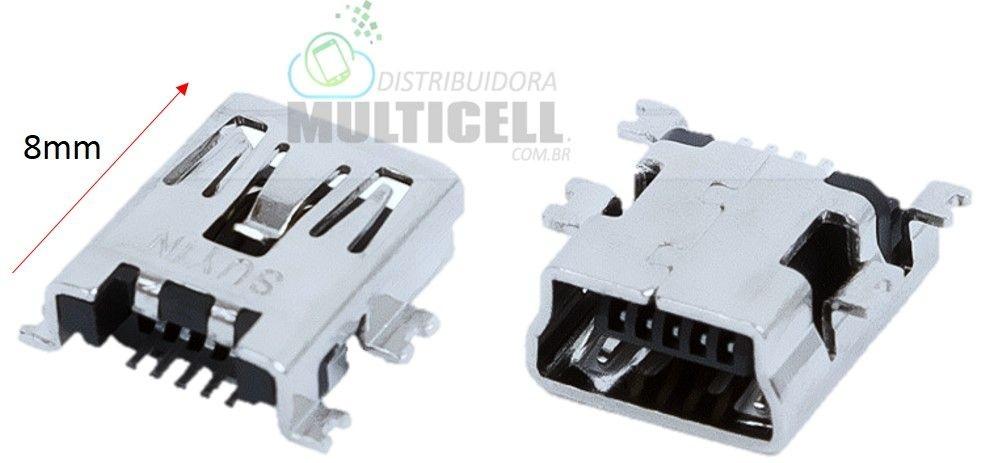 CONECTOR DOCK DE CARGA UNIVERSAL MODELO ENTRADA V3 5 TRILHAS TABLET GPS CELULAR 8mm (CONECTOR LONGO)