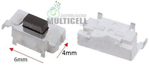 BOTÃO TECLA POWER ON/OFF UNIVERSAL PARA TABLET MODELO 6 X 4mm