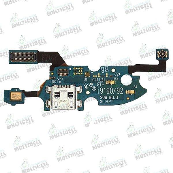 FLEX DOCK CONECTOR DE CARGA MICROFONE SAMSUNG I9190 I9192 I9195 GALAXY S4 MINI 1ªLINHA QUALIDADE AAA