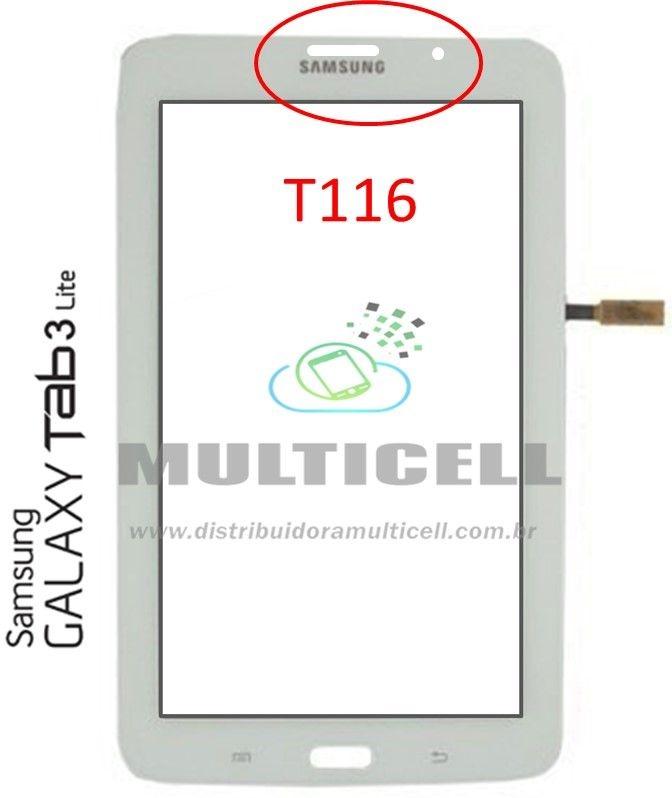 TELA TOUCH SCREEN SAMSUNG T116 TAB 3 LITE 3G 7