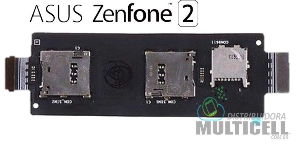 FLEX SLOT SIM CARD CHIP MICRO SD ASUS ZE550ML ZE551ML ZENFONE 2 1ªLINHA AAA QUALIDADE GOLD