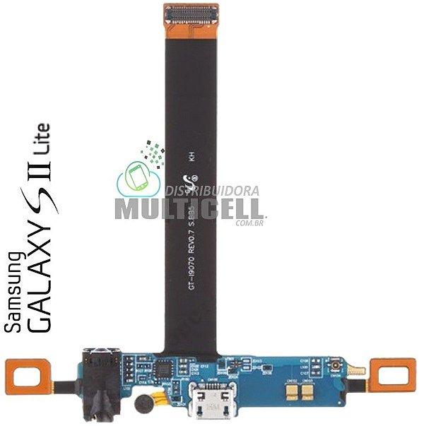 FLEX DOCK CONECTOR CARGA MICROFONE E SENSOR TEC I9070 S2 LITE QUALIDADE AAA