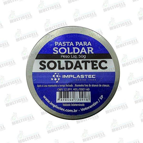 PASTA DE SOLDA SOLDATEC  IMPLASTEC 50G