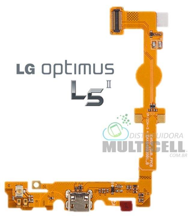 FLEX DOCK CONECTOR DE CARGA E MICROFONE LG E455 L5 II DUAL 1ªLINHA