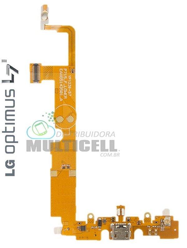 FLEX DOCK CONECTOR DE CARGA E MICROFONE LG P715 P716 OPTIMUS L7 II 1ªLINHA