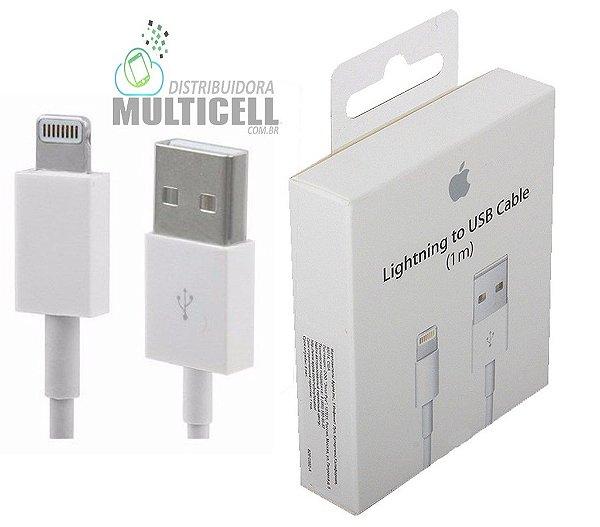 CABO USB CARGA E DADOS APPLE IPHONE 5 IPHONE 6 IPHONE 7 IPHONE 8 IPHONE X QUALIDADE AAA