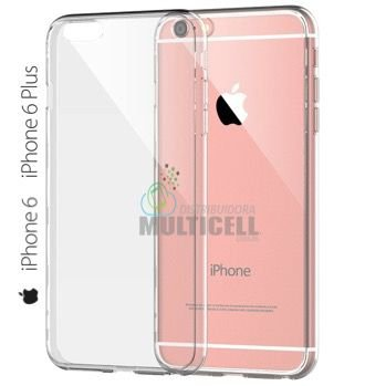 CAPA SILICONE 100% TRANSPARENTE APPLE IPHONE 6 6S PLUS 5.5""