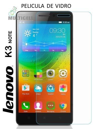 PELICULA DE VIDRO LENOVO K3 NOTE K50 K50-T5  2,5mm (SEM EMBALAGEM)