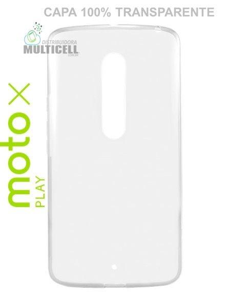 CAPA CASE DE SILICONE 100% TRANSPARENTE MOTOROLA XT1563 MOTO X PLAY