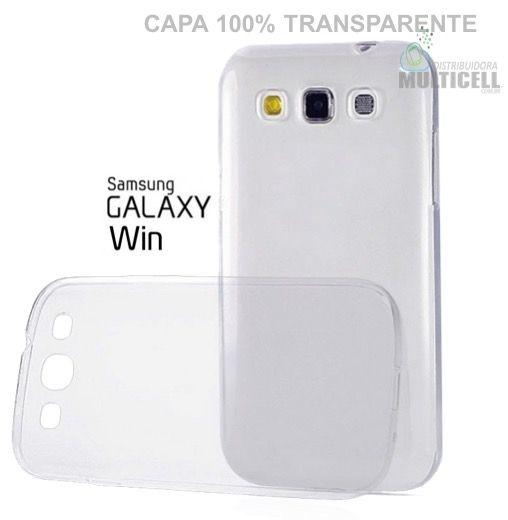CAPA DE SILICONE 100% TRANSPARENTE SAMSUNG I8550 I8552 GALAXY WIN DUOS